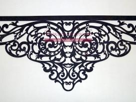 """Фото-94. Ажурный ламбрекен """"Верона"""" с отделкой стразами. Центральная часть. Дизайн 2015 года. Светлана Никитина."""