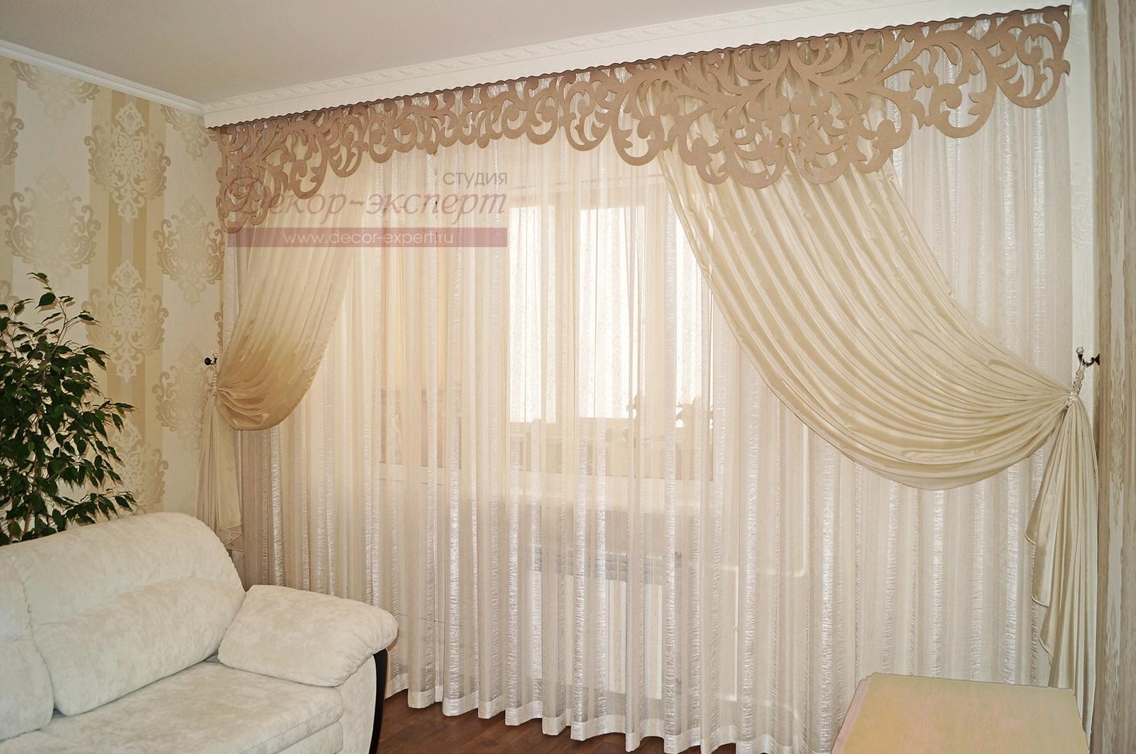 Фото-39. Мои шторы с ажурным ламбрекеном нестандартной длины. Проект выполнен для заказчика в Тольятти.
