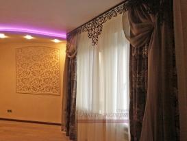 Фото-35. Ажурный ламбрекен для штор в гостиной Нарине из Подмосковья.