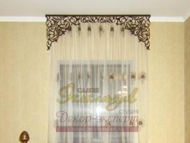 Фото-18. Проекты декорирования интерьера в восточном стиле от салона Эксклюзив из Казахстана с ажурными ламбрекенами от нашей студии.