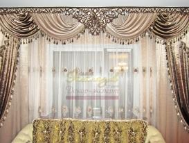 Фото-20. Проекты декорирования интерьера в восточном стиле от салона Эксклюзив из Казахстана с ажурными ламбрекенами от нашей студии.