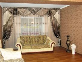 Фото-21. Проекты декорирования интерьера в восточном стиле от салона Эксклюзив из Казахстана с ажурными ламбрекенами от нашей студии.