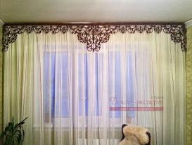 Фото-12. Ажурный ламбрекен для окна в комнате Ольги из Альайского края. к