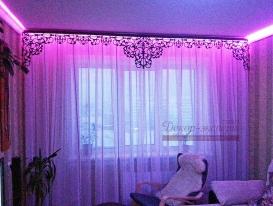 Фото-13. Ажурный ламбрекен для окна в комнате Ольги из Альайского края.
