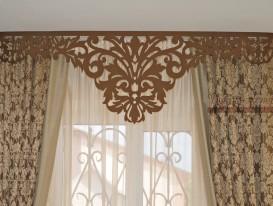 Ажурный ламбрекен Дамаск для штор в гостиную.