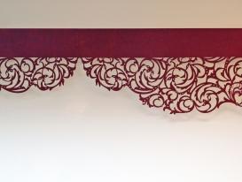 """Ажурный ламбрекен со стазами преобразованный дизайн """"Классика"""" для нашей  заказчицы из Лабытнанги."""