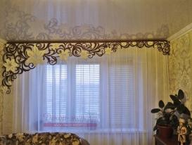 """Фото-181. Ажурный ламбрекен """"Яркий клематмс"""" для Алексея из Тольятти."""