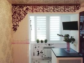 Ажурный ламбрекен Валенсия  в интерьере квартиры Татьяны из Самары.
