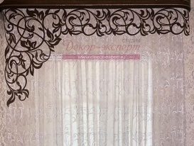 "Фото ажурного ламбрекена ""Валенсия-1"" (без цветков) в спальне Зои из Краснодарского Края"