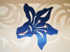 """Фото-90. Фрагмент ажурного ламбрекена. Дизайн 2015 года """"Цветущая лиана"""". Светлана Никитина, Тольятти."""