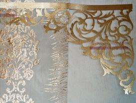 Фото-8. Вариант подбора портьерной ткани к ткани ажурного ламбрекена для заказчика из Сызрани, сделан для отправки на согласование по e-mail.