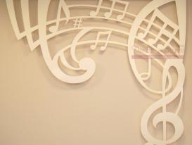 Правая часть ажурного ламбрекена для музыкального зала