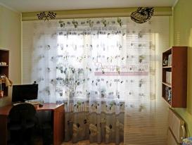 Фото-86. Ажурные элементы на гладком ламбрекене для штор в детскую мальчика. Мой проект в Самаре.