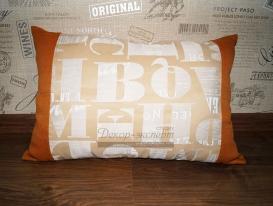Декоративная подушка в комнату мальчика из Тольятти.