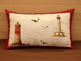 Декоративная подушка с кантом в комнату мальчика.
