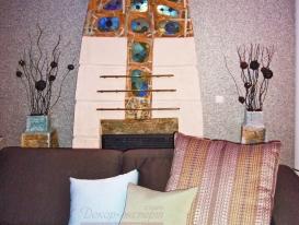Декоративные подушки в этническом интерьере.