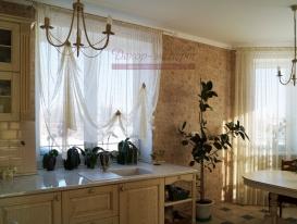 Фото-32. Деревенские шторы для кухни.