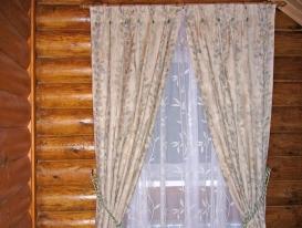 Фото-29. Деревенские шторы для спальни.