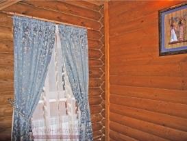Фото-25. Деревенские шторы в спальню.