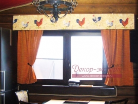 Деревенские шторы для охотничьего домика.
