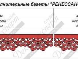 """Дополнительные элементы багета для ламбрекена """"Ренессанс-3"""". Артикулы: B13.44, B13.4 и B13.5."""