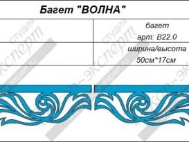 "Элементы ажурного багета ""Волна"". Артикулы: B22.0 и B 22.1."
