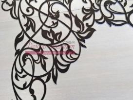 """Фрагмент ажурного ламбрекена """"Валенсия-1"""" (без цветков) для Зои из Краснодарского Края. Заметьте, что слева есть дополнительная площадь узора для заворота на карнизе."""