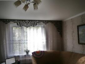 Ажурный ламбрекен Севилья-3 в интерьере гостиной Натальи из Алтайского края.