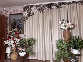 Ажурный ламбрекен Яркий Клематис для мамы Екатерины из Нижнего Новгорода.
