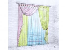 Эскиз штор в детскую комнату для девочки 03