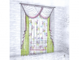 Эскиз штор в детскую комнату для девочки 04