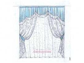 Эскиз штор в детскую комнату для девочки  05