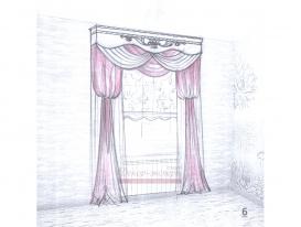 Эскиз штор в детскую комнату для девочки 06