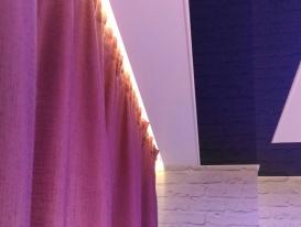 Фото штор со светодиодной подсветкой.