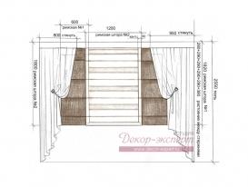 Эскиз-8. Римские шторы для кухни. Проект.
