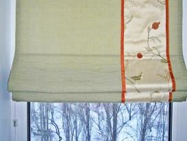 Фото-14. Римские шторы для кухни. Фрагмент.