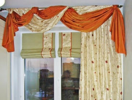 Фото-16. Римские шторы для кухни.