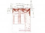 Эскиз-1. Римские шторы для кухни.