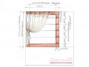 Эскиз-3. Римская штора для кухни.