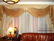 Фото-01. Классические шторы в домашнем кабинете.