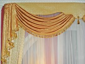 Фото-02. Классические шторы кабинете фрагмент.