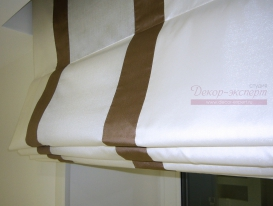 Фото-66. Римские шторы в комнату отдыха - фрагмент.