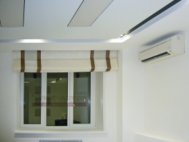 Фото-67. Римские шторы в комнату отдыха. Поднятое положение.