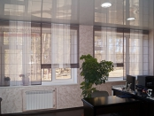 Фото-42. Римские шторы в офис.