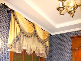 Фото-10. Классические шторы в кабинете дома.