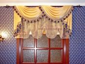 Фото-11. Шторы в классическом стиле для кабинета дома.