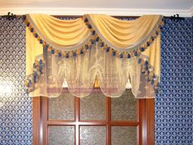 Фото-12. Классические шторы в кабинете дома.