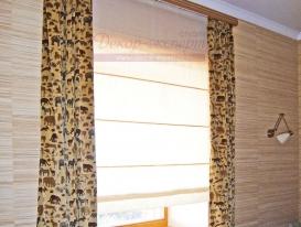 Фото-63. Римские шторы для домашнего кабинета.