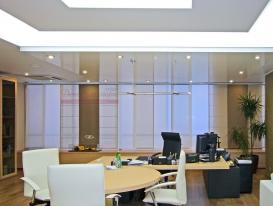 Фото-34. Японские шторы с дистанционным управлением в кабинете первого руководителя.