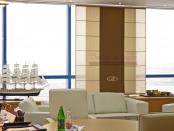 Фото-32. Японские шторы в кабинете первого руководителя открытый вариант.